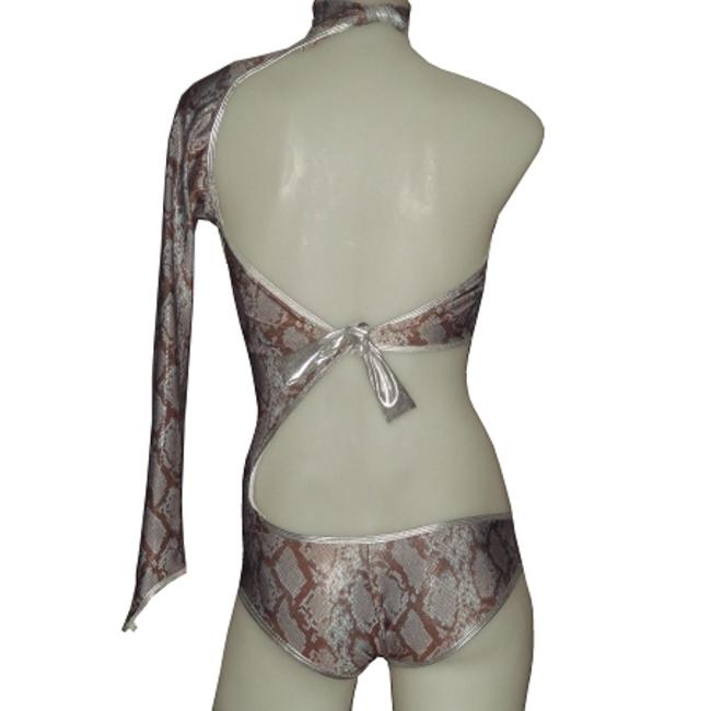 Mockneck One-Shoulder Bodysuit