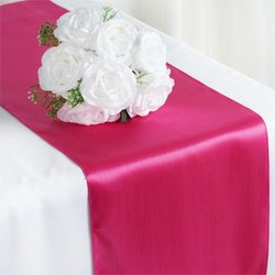 12X108 SATIN TABLE RUNNER-FUSHIA