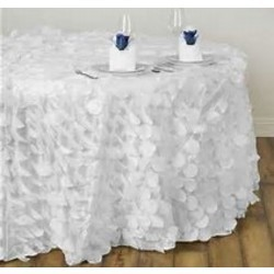 VIBRANT FLAMINGO PETAL TABLECLOTH 132