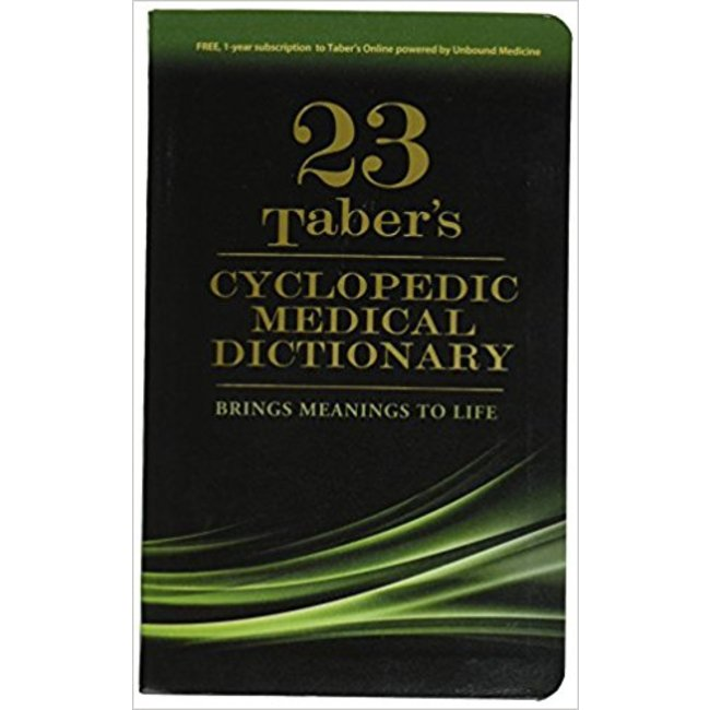 NEW || TABER / CYCLOPEDIC MEDICAL DICTIONARY (INDEXED)