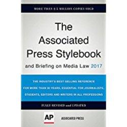 USED || ASSOC PRESS / ASSOCIATED PRESS STYLEBOOK & BRIEFING ON MEDIA LAW 2017