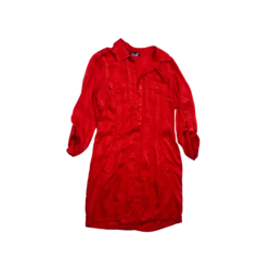 Bebe Snake print red dress