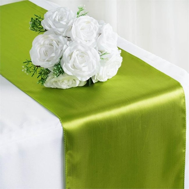 12X108 SATIN TABLE RUNNER-TEA GREEN