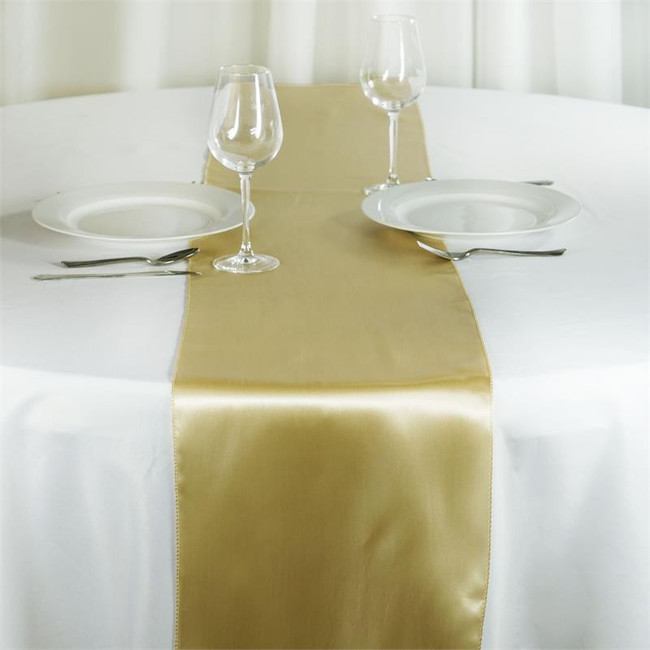12X108 SATIN TABLE RUNNER-CHAMPAGNE