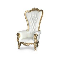 Gold/white high back throne