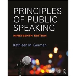 USED || GERMAN / PRINCIPLES OF PUBLIC SPEAKING
