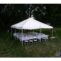 20x20 tent set up & picked up by djdanceboogie