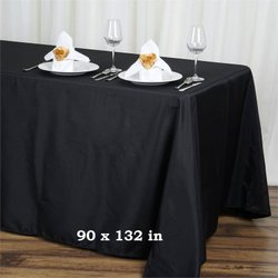 90X 132 POLYESTER TABLECLOTH- BLACK