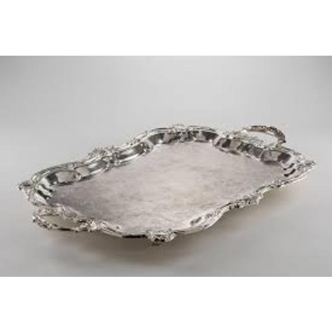 SERVING TRAY, RECTANGULAR SILVER