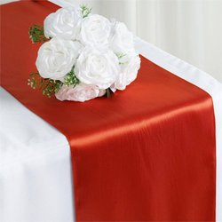 12X108 SATIN TABLE RUNNER- BURNT ORANGE