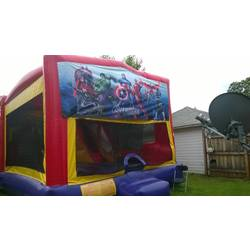 adventure bounce house & character