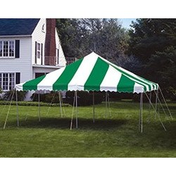 Pole Tent 20x20 Green/White