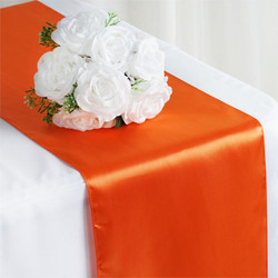 12X108 SATIN TABLE RUNNER-ORANGE