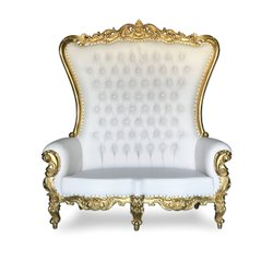 Gold/white double settee throne