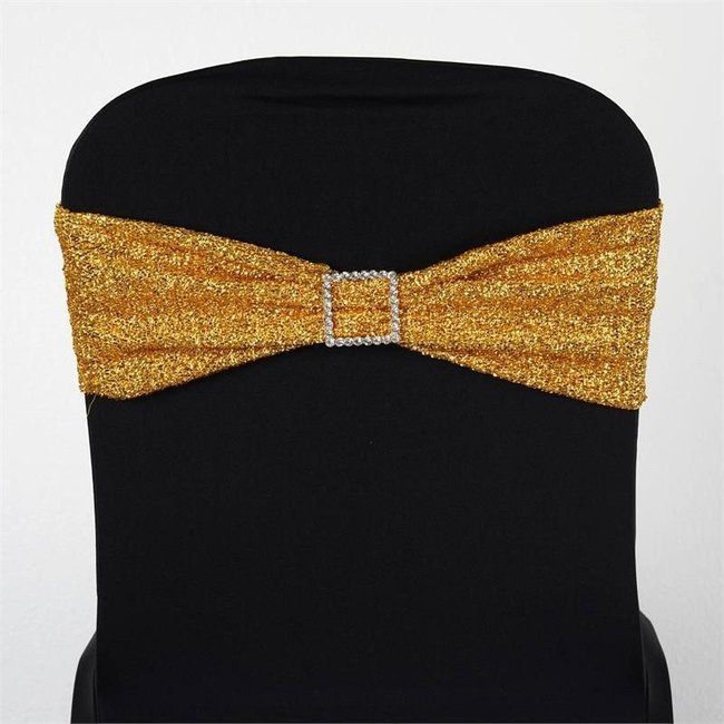 SPANDEX CHAIR SASH -METALLIC GOLD