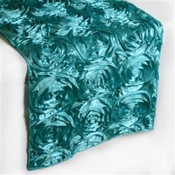 Turquoise rosette table runner  14