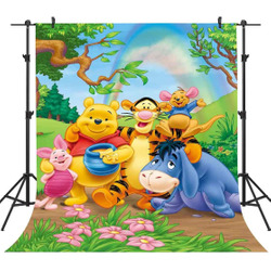 5x7ft  Winnie Rainbow Backdrop