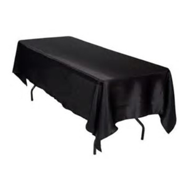 60X102 SATIN TABLECLOTH- BLACK