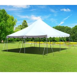 Pole Tent 20x20 White