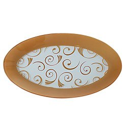 GLASS OVAL PLATTER - GOLD