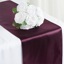 12X108 SATIN TABLE RUNNER-EGGPLANT