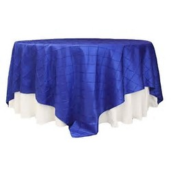60''PINTUCK OVERLAY- ROYAL BLUE