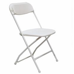 White Chairs W/White Frame