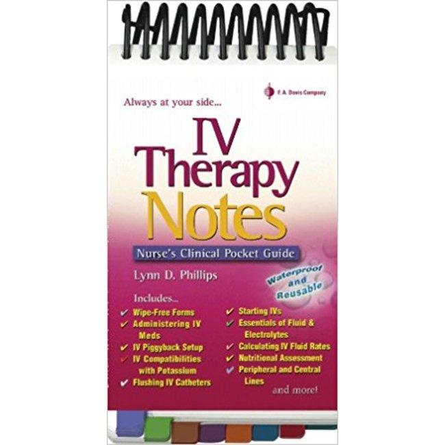 Used| PHILLIPS / IV THERAPY NOTES: NURSE'S PHARMACOLOGY POCKET GUIDE| Instructor: TANG