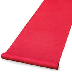 50' Aisle Runner (Red). Requires a 3 day notice