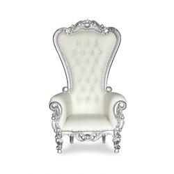 Simple silver trim white throne