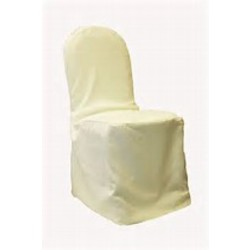 POLYESTER BANQUET CHAIR COVER- IVORY