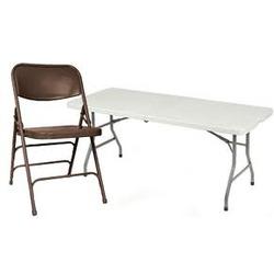 2-8FT. Banq. Table & 20 Mocha Chair