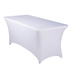 6' SPANDEX TABLECOVER-WHITE