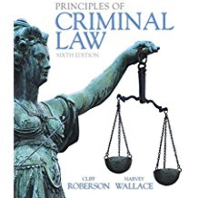 New| ROBERSON / PRINCIPLES OF CRIMINAL LAW| Instructor: KIMBER