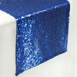 12X108 SEQUIN TABLE RUNNER- ROYAL BLUE