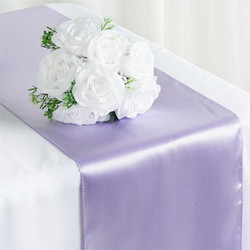 12X108 SATIN TABLE RUNNER-LAVENDER