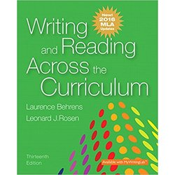 NEW || BEHRENS / WRITING & READING ACROSS CURRICULUM 2016 MLA UPDATE