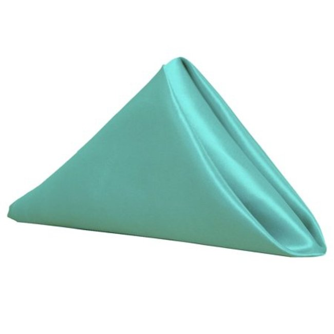 20 inch Satin Cloth Napkins Turquoise