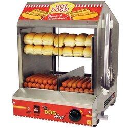 Hot dog/hot bun steamer