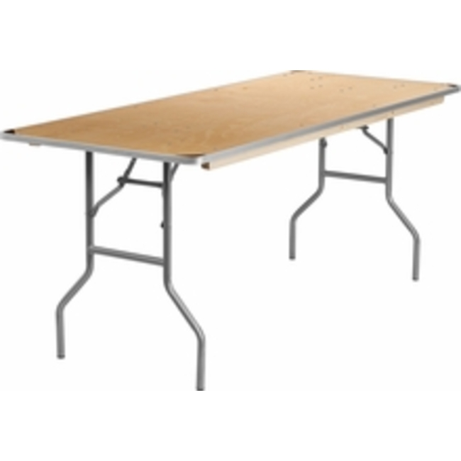6' BANQUET WOODEN FOLDING TABLE