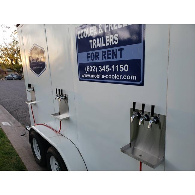 6 x 12 Cooler Trailer w/ beer taps