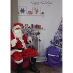 santa claus greeting