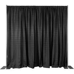 Black -8 ft high Pipe and Drape ($2.50 per linear ft)