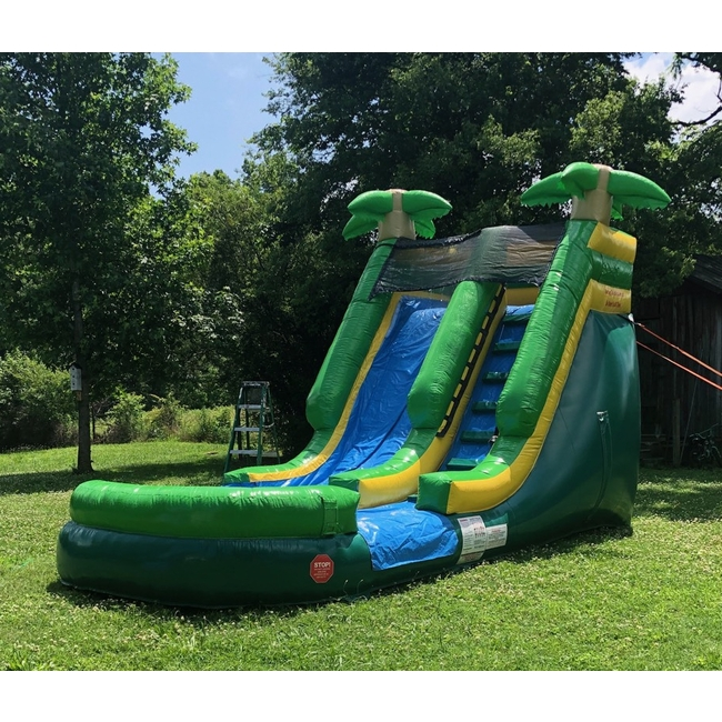 16ft Waterslide - Palm Tree #2 with Pool