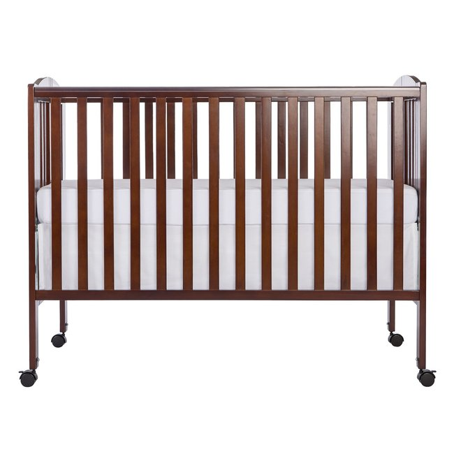 Full Size Crib with Linens (espresso)