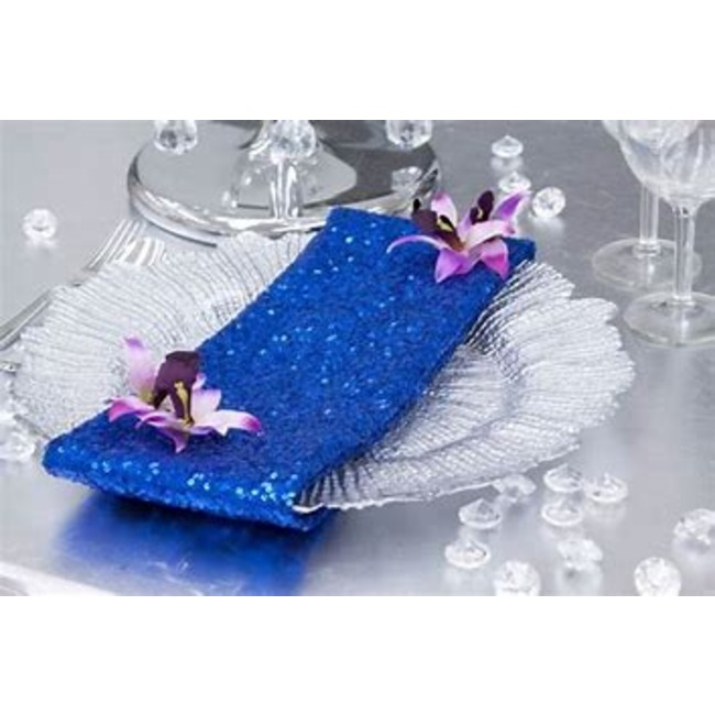 20 x 20 Premium sequin napkin- royal blue