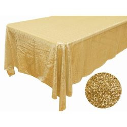 60x102 Sequin Tablecloth-gold
