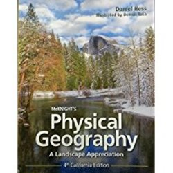 USED || HESS / MCKNIGHT'S PHYS GEOG. CA ED 4th BK ONLY