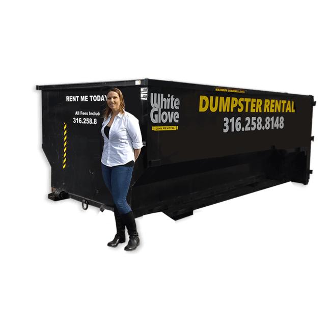 21  yd driveway dumpster