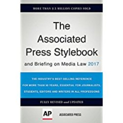NEW || ASSOC PRESS / ASSOCIATED PRESS STYLEBOOK & BRIEFING ON MEDIA LAW 2017